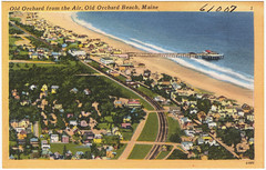 Old Orchard from the air, Old Orchard Beach, Maine