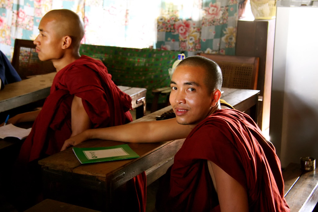 Monks Studying English