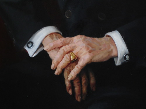 detail of hands- Gisevius portrait