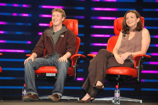 Mark Zuckerberg and Sheryl Sandberg, Facebook