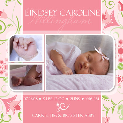 3838995409 for Free online birth announcements templates