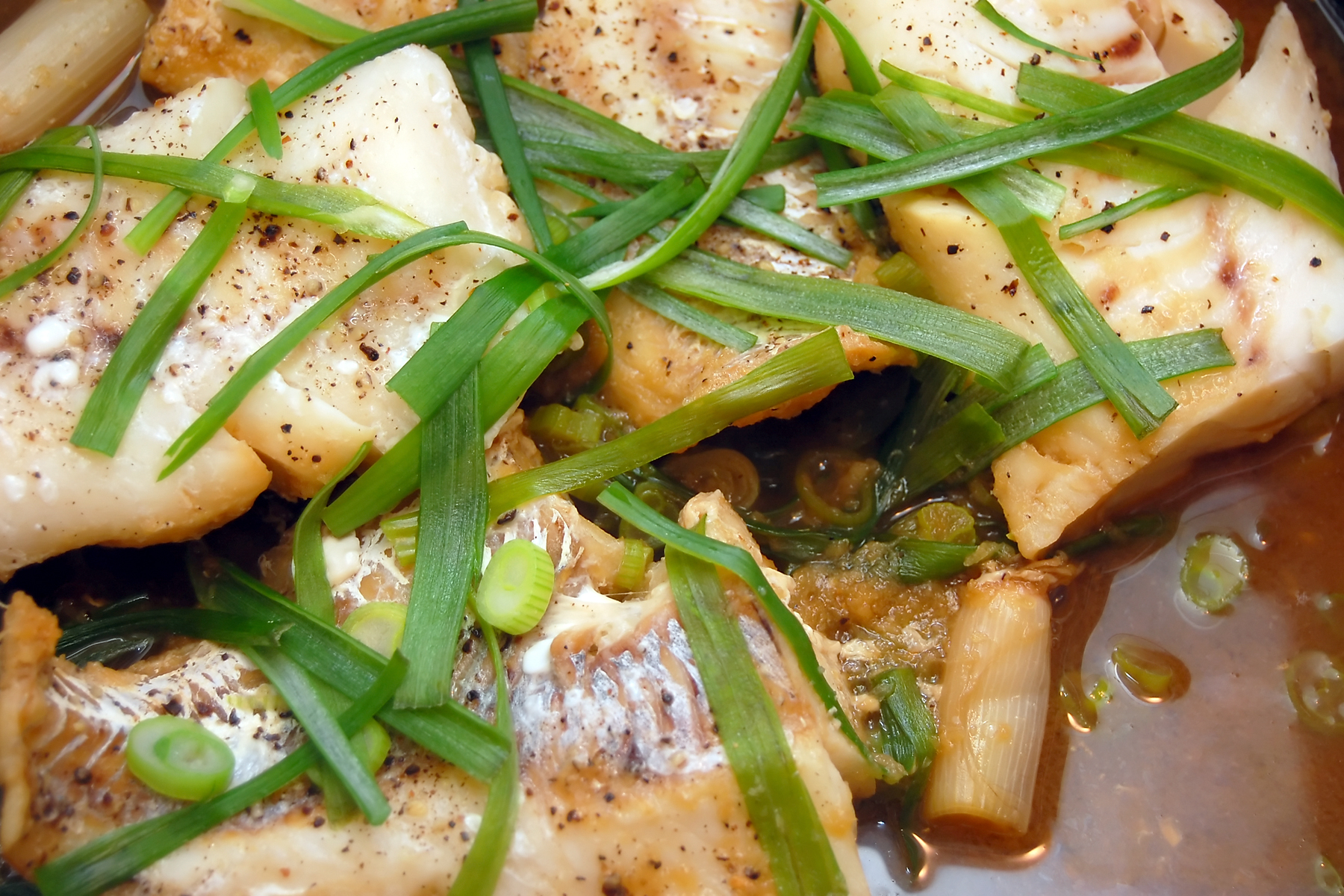Steamed Cod with Ginger & Scallions | Flickr - Photo Sharing!