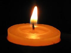 orange, candle, yellow, light, flame, lighting,