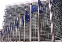 Banderas Europeas en el Berlaymont (Bruselas)