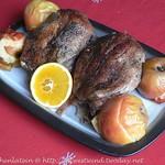 Gänsebrust mit Schmoräpfeln