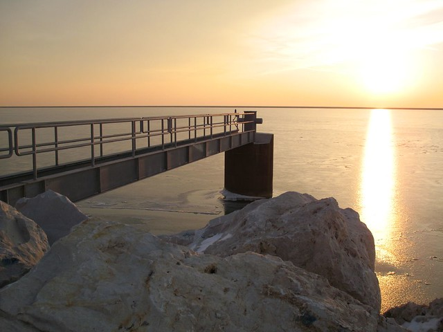 Morning at Pier Wisconsin