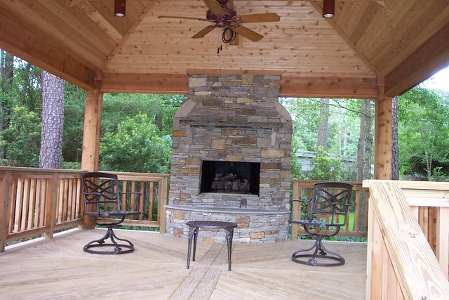 Country gazebo fireplace 1 explore wood crafters 39 photos for Gazebo with fireplace