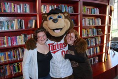 T.C. Bear visits Teen Central