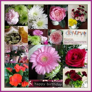 Mosaic Monday - Birthday Flowers