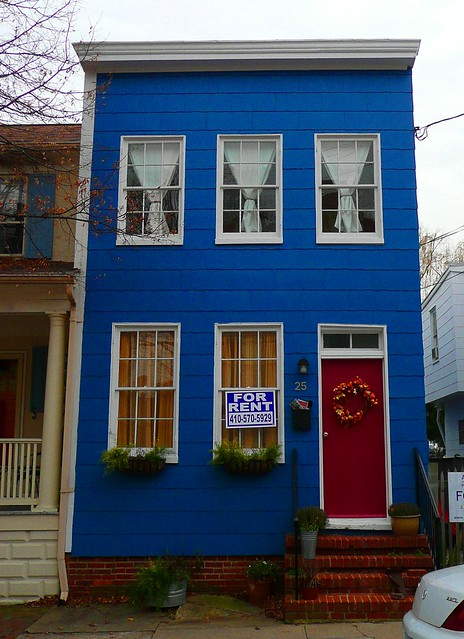 Annapolis Md Blue House Red Door Flickr Photo Sharing