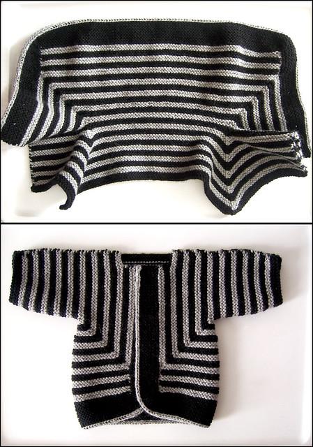 Elizabeth Zimmermann Knitting Patterns : Baby [garter-stitch] Surprise Jacket Flickr - Photo Sharing!