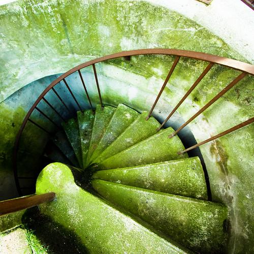 paris france green square spiral europe stair wideangle vert foam escalier mousse staris moisissure escaliers nogentsurmarne explored