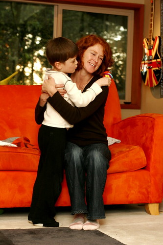 """nick, clearly in violation of his """"no loving"""" rule   hugging kathy goodbye    MG 2002"""