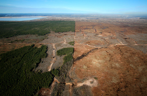 Tar sands extraction in northern Alberta
