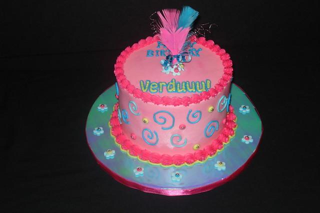 Sensational Funky Birthday Cake Buttercream Iced Birthday Cake With Fo Flickr Personalised Birthday Cards Arneslily Jamesorg