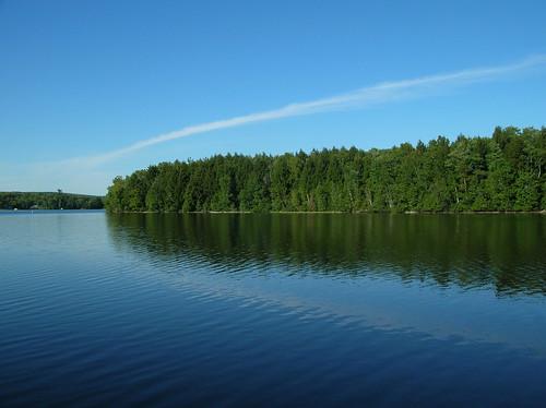 blue trees sky lake green water geotagged still pond maine birchisland geo:lat=44921254 geo:lon=69397116