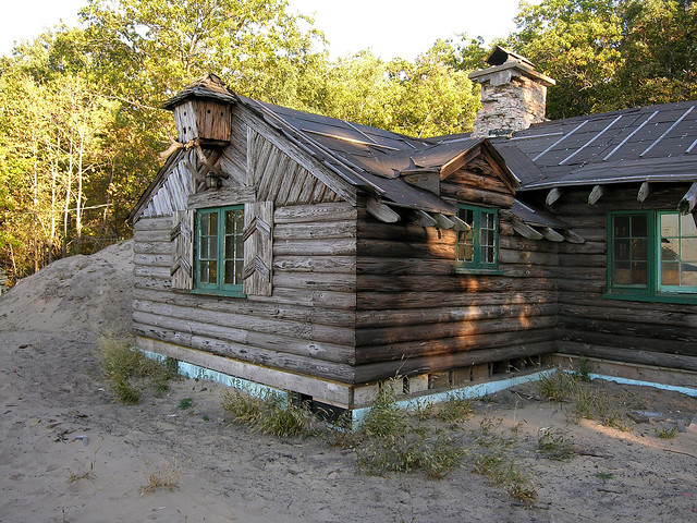 Cypress log cabin restoration beverly shores indiana for Log cabin restoration