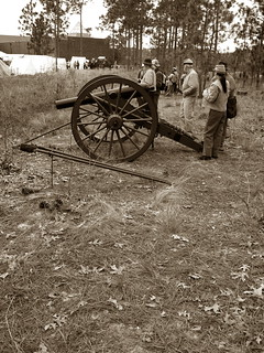 sepia Confederate battery