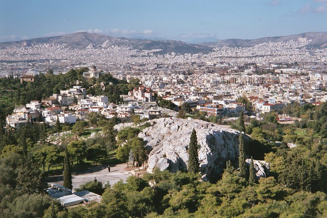 Areopagus Hill  Athens, Greece, December 2004. The ...