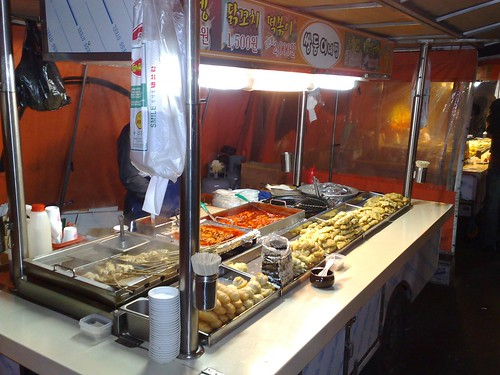 Typical Korean street food