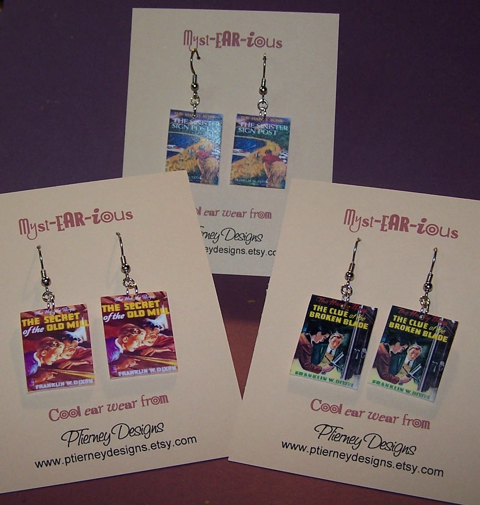 Hardy Boys Mystery Earrings