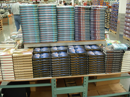Book stacks - Costco Warehouse store Kauai