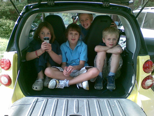 Description: kids in car