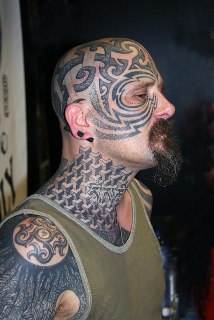 Xed lehead tattoo artist portrait taken at the tattoo for Amsterdam tattoo artists