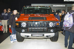 hummer h1(0.0), city car(0.0), automobile(1.0), automotive exterior(1.0), sport utility vehicle(1.0), vehicle(1.0), hummer h3(1.0), auto show(1.0), hummer h2(1.0), hummer h3t(1.0), bumper(1.0), land vehicle(1.0), luxury vehicle(1.0), motor vehicle(1.0),