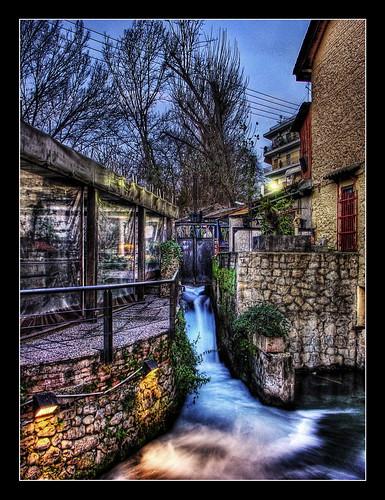 park trees house mill water santabarbara waterfall greece macedonia drama hdr atmospheric lucisart photomatix anawesomeshot northgreece