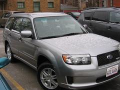 automobile(1.0), automotive exterior(1.0), subaru(1.0), sport utility vehicle(1.0), vehicle(1.0), subaru forester(1.0), compact sport utility vehicle(1.0), crossover suv(1.0), bumper(1.0), land vehicle(1.0),