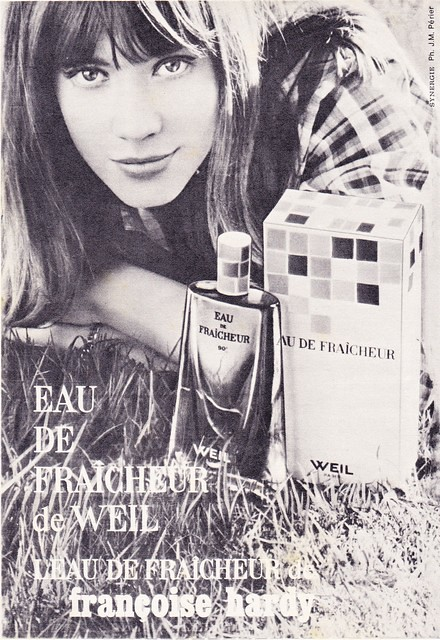 Weil perfume in 1965 with Françoise Hardy