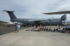 aviation, airplane, vehicle, military transport aircraft, tarmac, jet aircraft, lockheed c-5 galaxy, air force,
