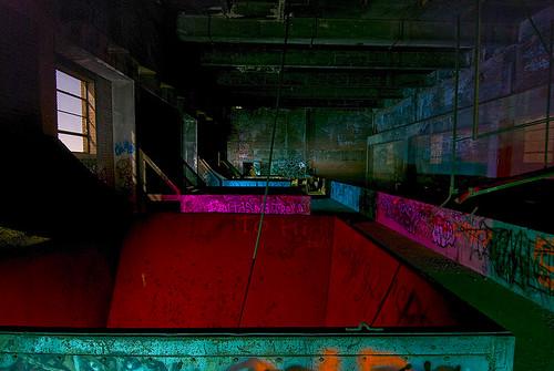 lake abandoned night texas echo fortworth incinerator wevegotthepower
