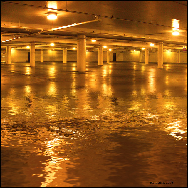 flooded basement this is shot in a parking garage at a loc