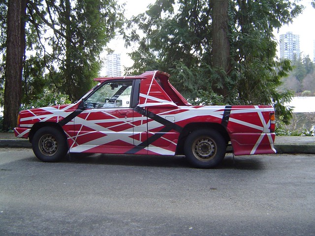 Eddie Van Halen's guitar.... er... as a truck.