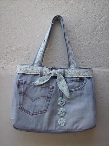 Bolsa feita de cal a jeans frontal flickr photo sharing - Bolsas para flash ...