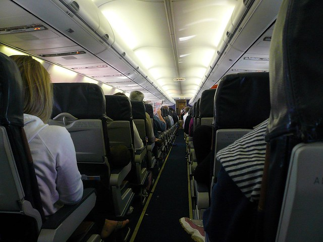 Inside a Southwest Airplane