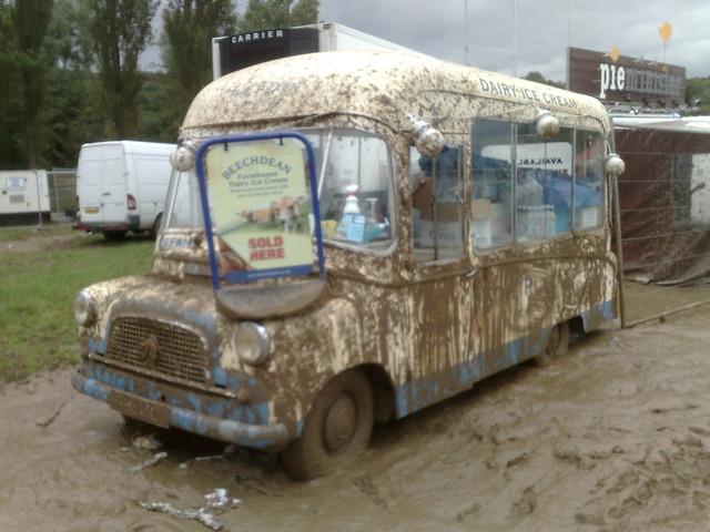 Bestival ice cream van