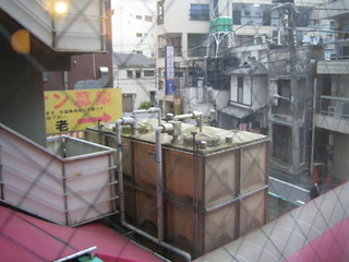 Ugly view of a Japanese neighborhood