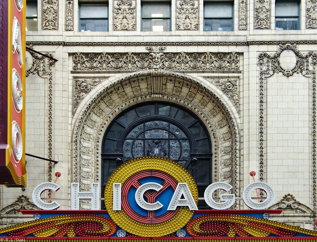 Chicago Theatre Marquee and Window