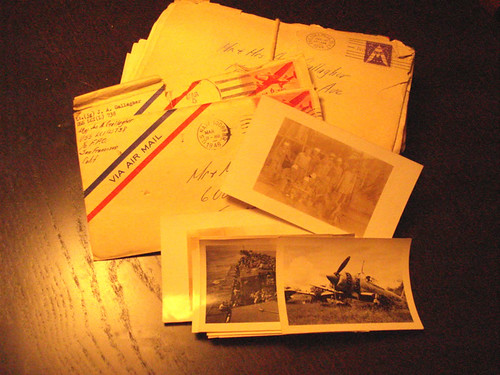 Letters from a WWII veteran to his parents (Photo by Cynthia Closkey)