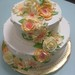 Cascading Buttercream flowers