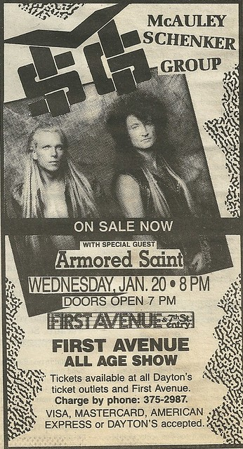 01/20/88 MSG/ Armored Saint @ First Avenue, Minneapolis, MN