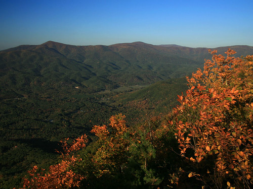 autumn red orange mountains colors georgia overlook cohutta fortmountainstatepark