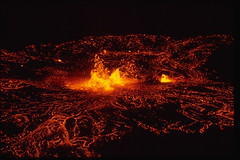 types of volcanic eruptions, lava, darkness, night, volcanic landform,