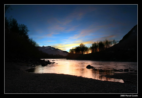 sunset water river landscape wasser sonnenuntergang explore fluss rhein pantarhei digitalblending