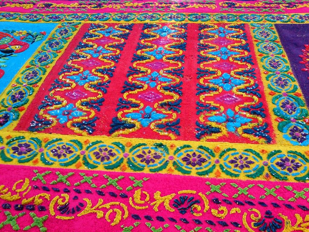 Alfombra para la procesi n de jes s de la merced del - Dibujos para alfombras ...