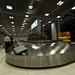 The baggage conveyor belt