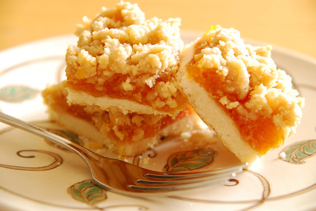 Apricot Crumb Bars. | Shortbread base, apricot filling using ...